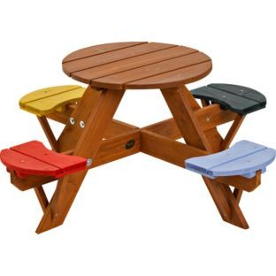 Buy Plum Childrens Garden Picnic Table With Coloured Seats