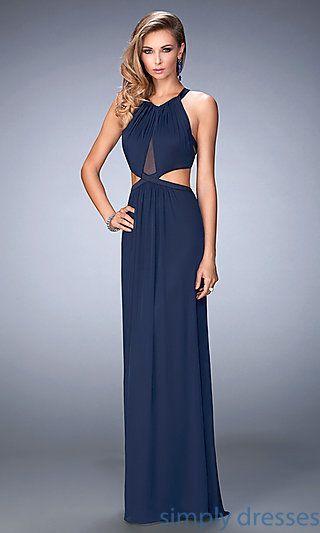 Sleeveless La Femme Long Cut Out Prom Gown Dresses Pinterest