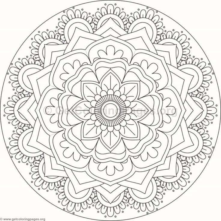 Blumen Mandala August Kalender Malvorlagen Mandalas Blumenmandalaaugustkalendermalvorlagen Mandalas Mandala Ausmalen Malvorlagen Blumen August Kalender