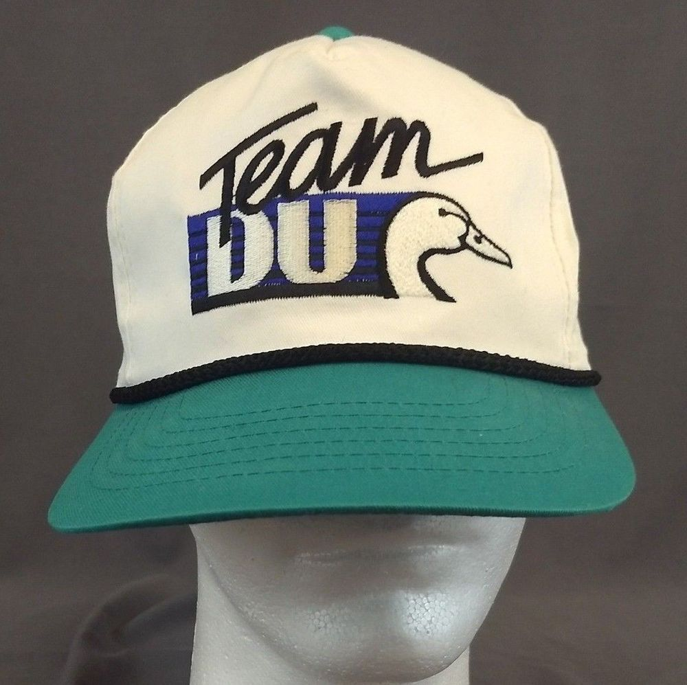 0924c897f Vintage Ducks Unlimited Team DU Trucker Hat Cap Snapback White Teal ...