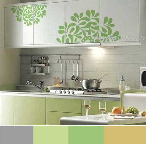 Stencil Cabinets In Kitchen Wall Decals Stickers Walls