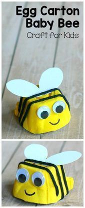 Baby Bee Craft for Kids Turn an empty egg carton Egg Carton Baby Bee Craft for Kids Turn an empty egg carton Egg Carton Baby Bee Craft for Kids Turn an empty egg cartonCa...