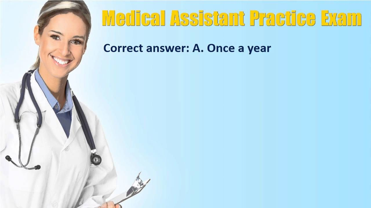 AMT registered medical assistant practice exam | NCLEX Exams ...