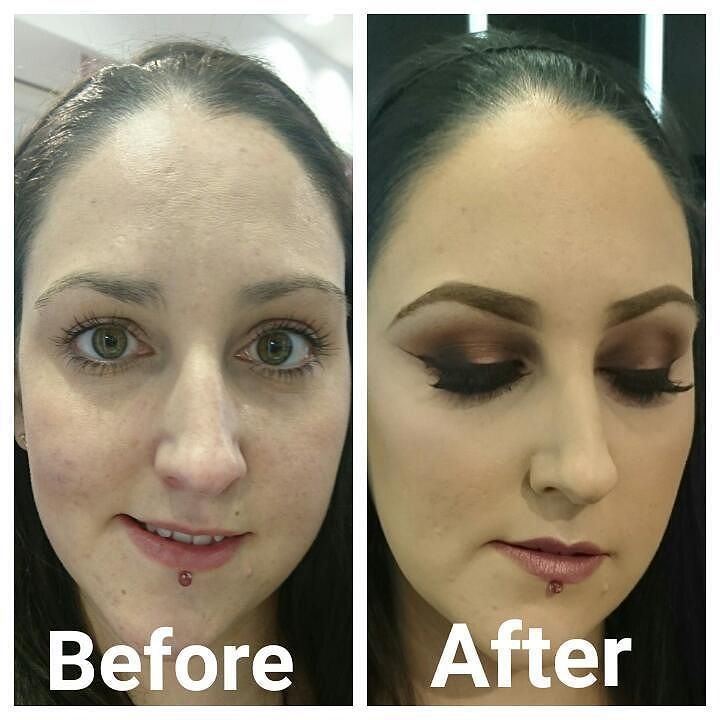 Before and after my #Mac makeover by the lovely @MUA_hannah - I'll be blogging about the experience including all products used soon!