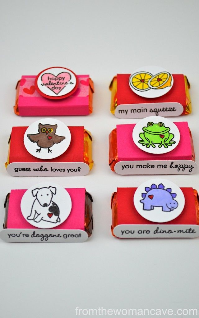 Many Mini Valentines- Hershey's Miniatures Wrappers