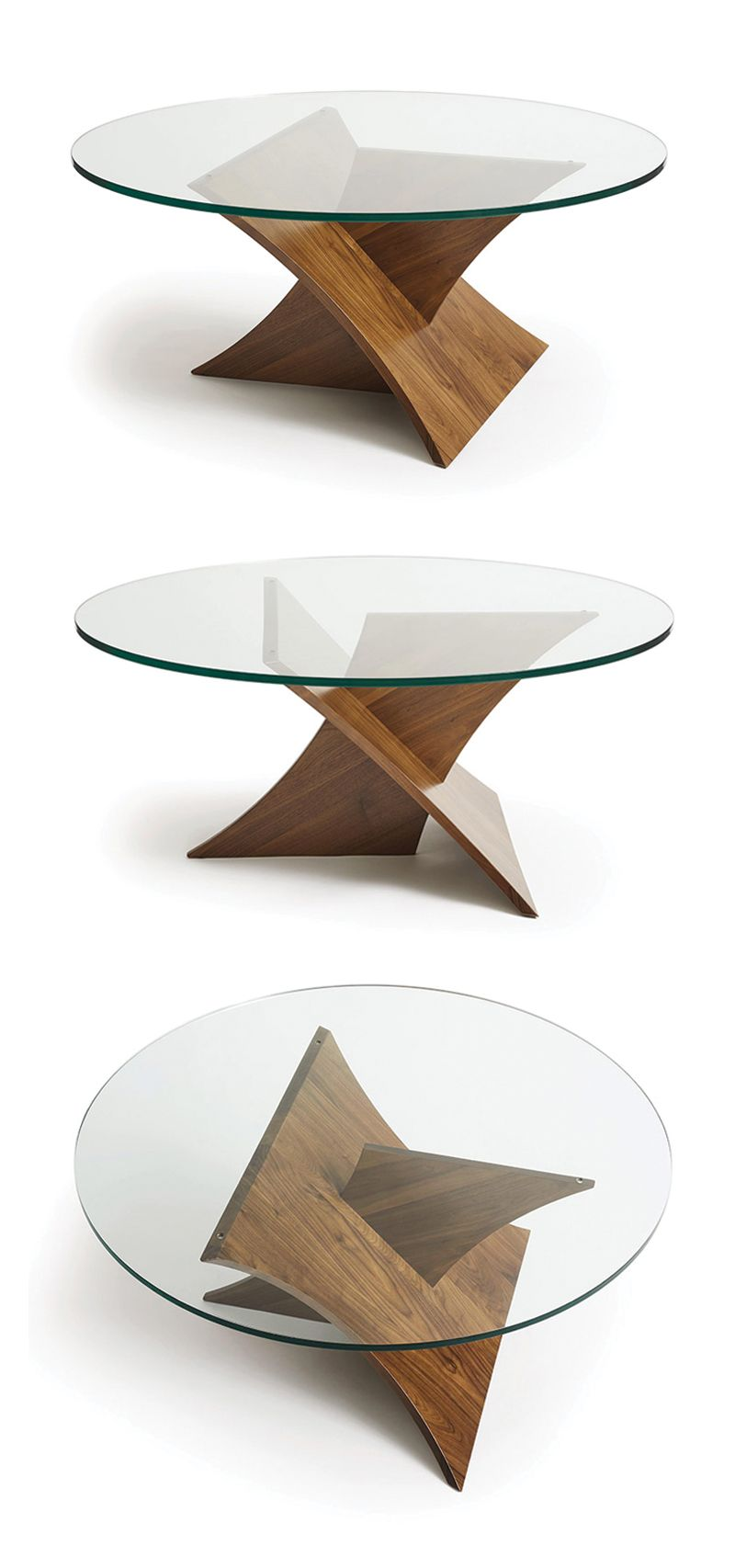 Planes Walnut Round Glass Top Coffee Table By Copeland Furniture Glass Top Coffee Table Coffee Table Design Decorating Coffee Tables [ 1706 x 800 Pixel ]