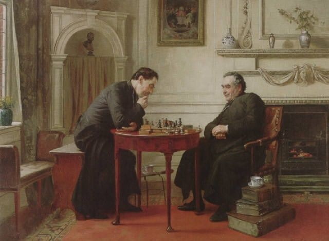 SADLER Walter Dandy (1854 – 1923) The chess game. 1886