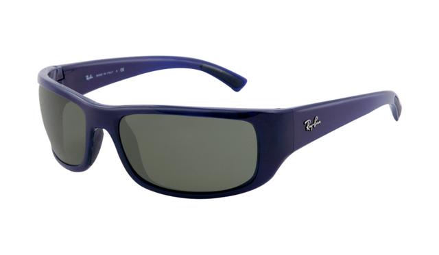 6ddaaea52af Ray Ban RB4176 Sunglasses Blue Frame Light Green Polarized Lens ...