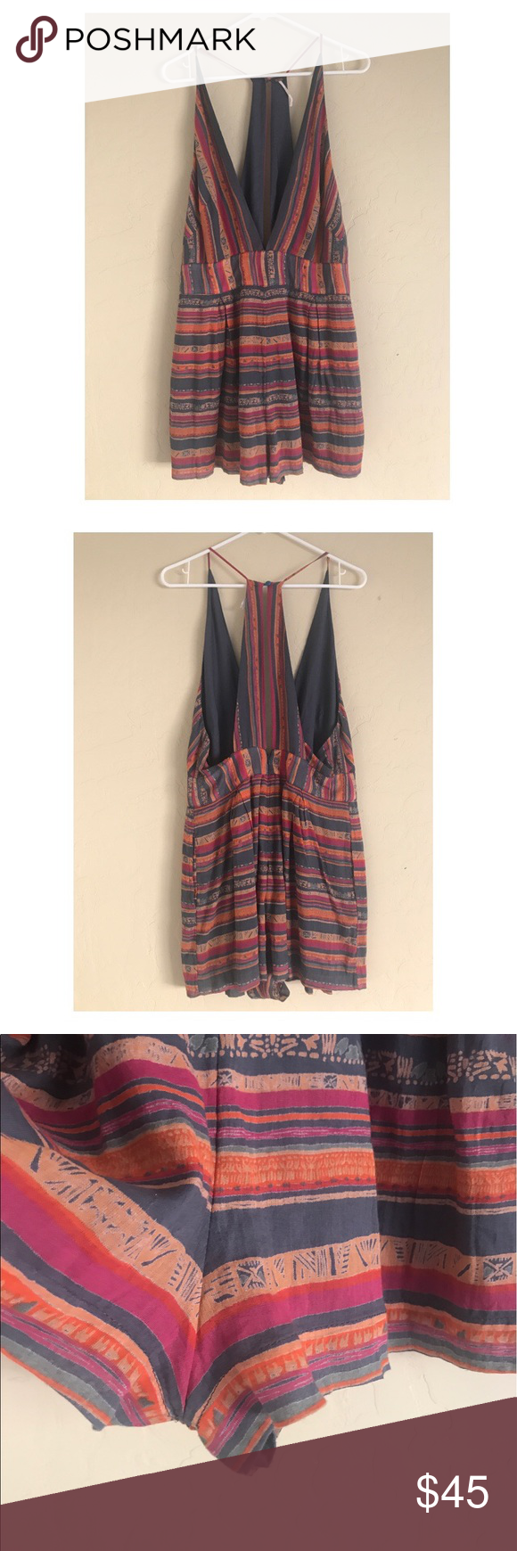 """NWOT Free People Romper NWOT free people Romper, pockets on both sides. Size 12. Length 35"""" Free People Other"""