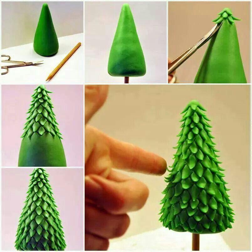 Creative Ideas Diy Fondant Christmas Tree Gâteau