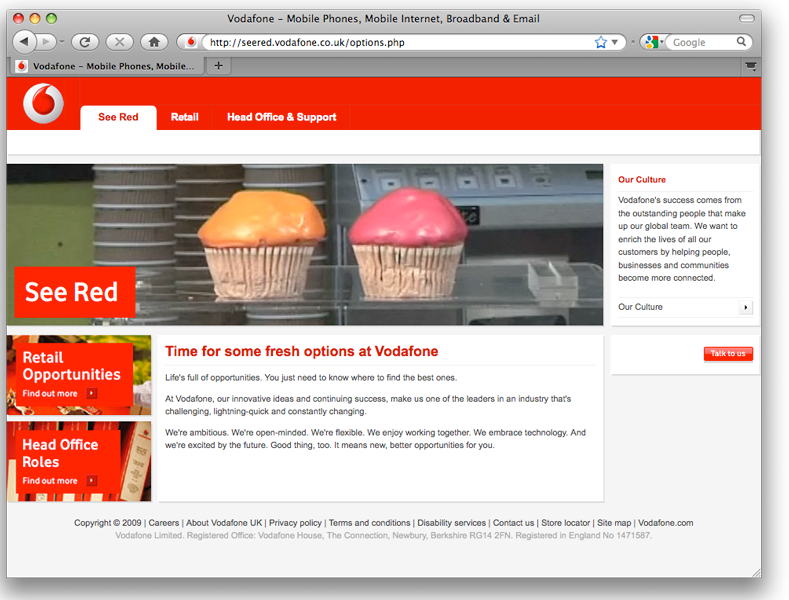 Vodafone See Red Campaign Gravitas People Red Campaign Red
