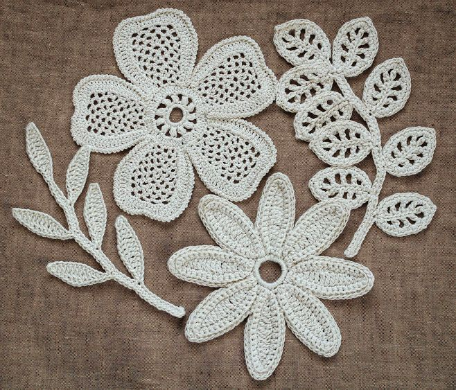 Free Crochet Patterns For Small Motifs : Outstanding Crochet: Irish Crochet Motifs. Pattern at ...