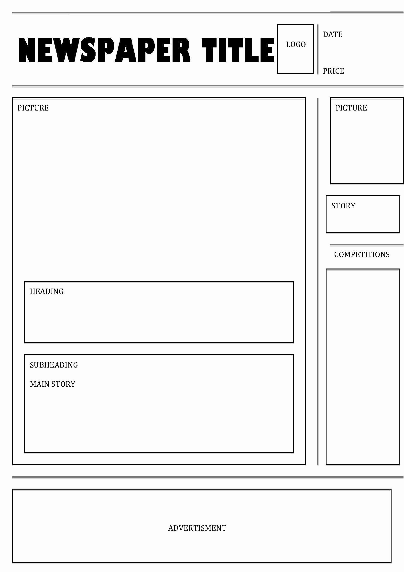 Blank Bank Statement Template In 2020 Newspaper Template