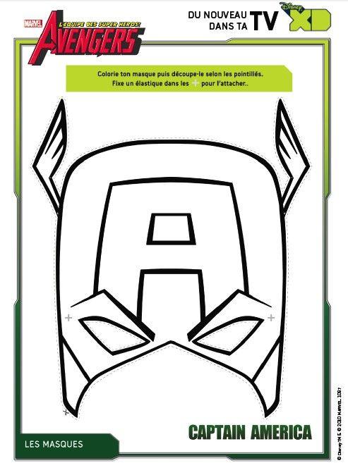 Dibujo para colorear Los Vengadores   Capitan America   Pinterest ...