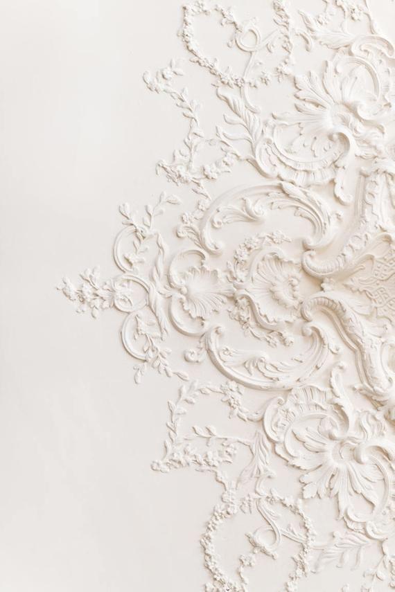 Paris Photograph - The Lacework Ceiling, Paris Architecture Detail, Large Wall Art, Neutral French Home Decor, Fine Art Photo