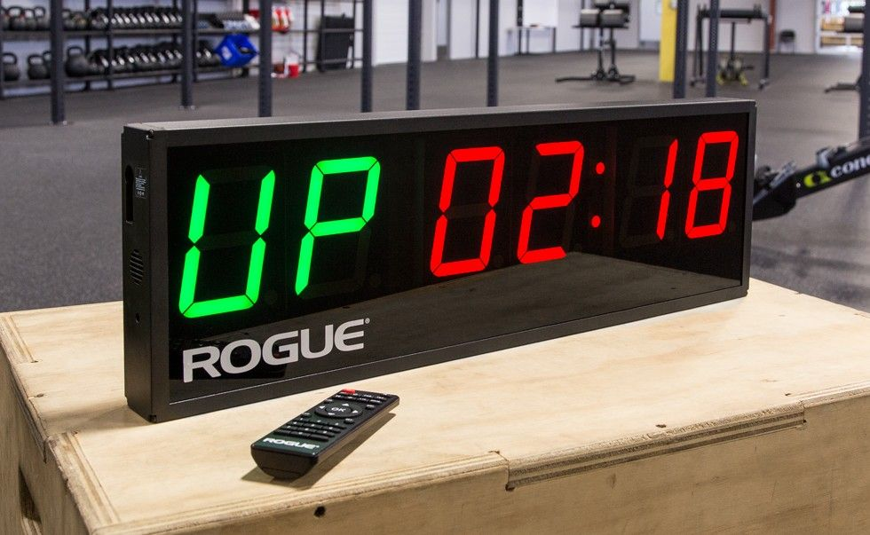 rogue echo gym timer fit time! pinterest at home gym, fitness