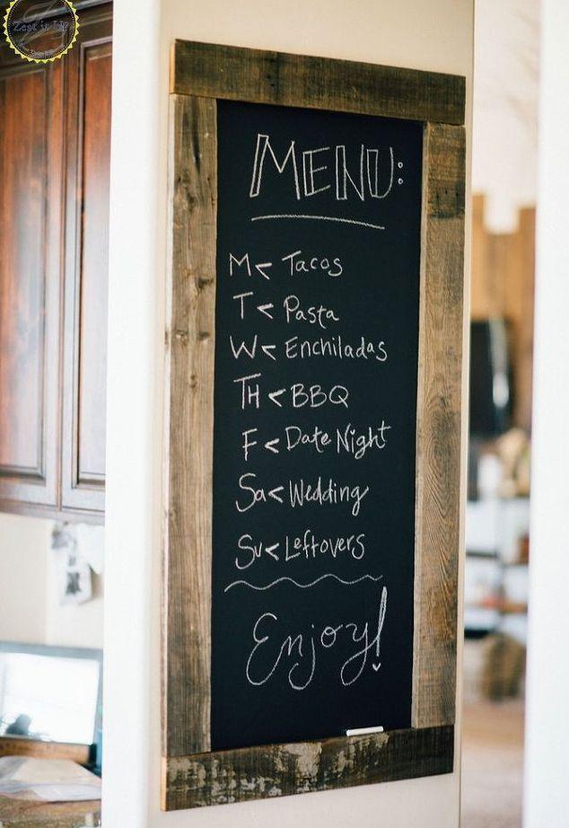 kitchen chalkboard menu, chalkboard paint, crafts, home improvement ...