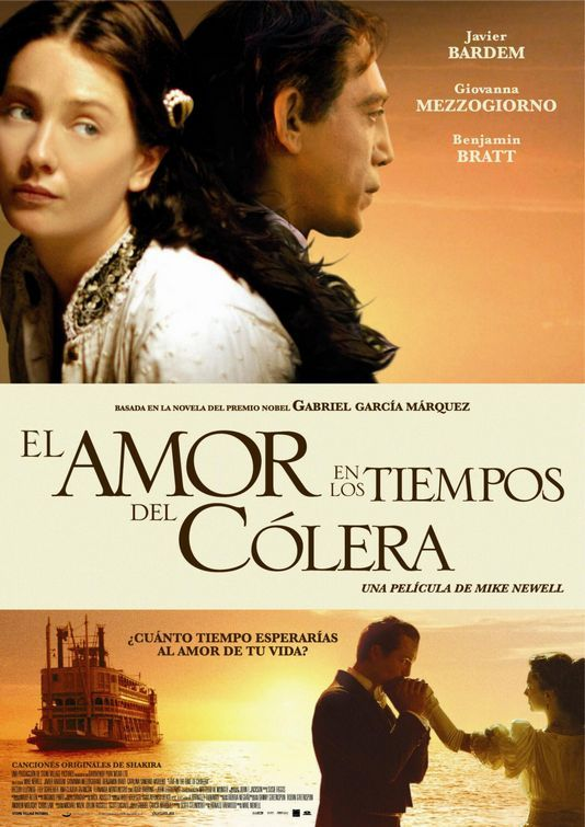 Love In The Time Of Cholera Movie Poster 3 Romantic Movies Music Book Movies