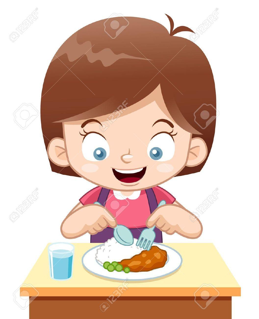 Girl Eating Dinner Cartooning 4 Kids Cartoon Kids Moral Stories For Kids