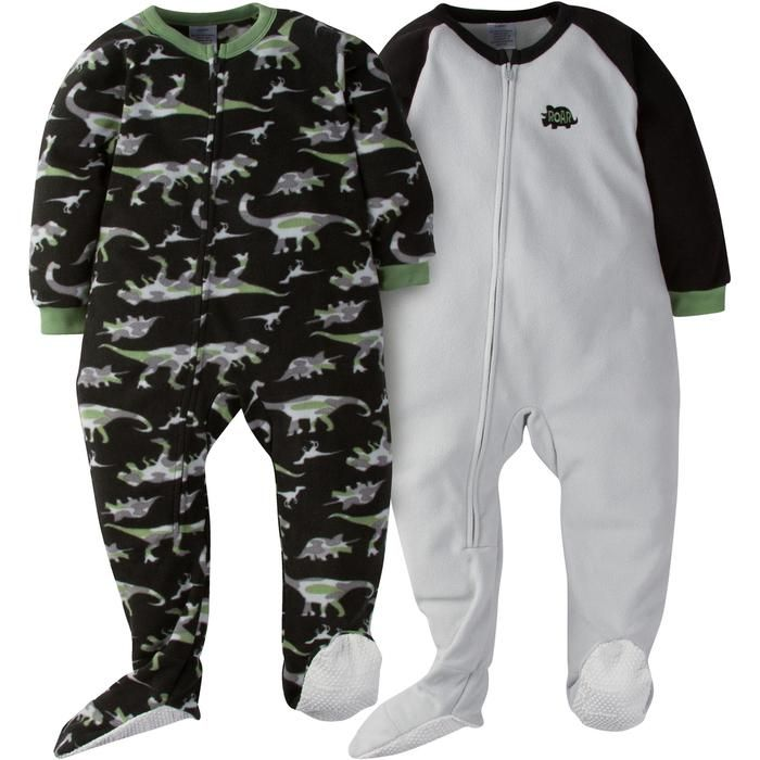 e87d64a96a1a 2-Pack Toddler Boy Dino Camo Blanket Sleepers
