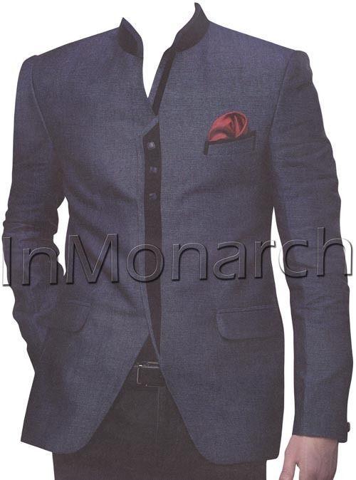 Ethnic Look Jodhpuri Suit Groom Wedding Designer Coat Pant Mens