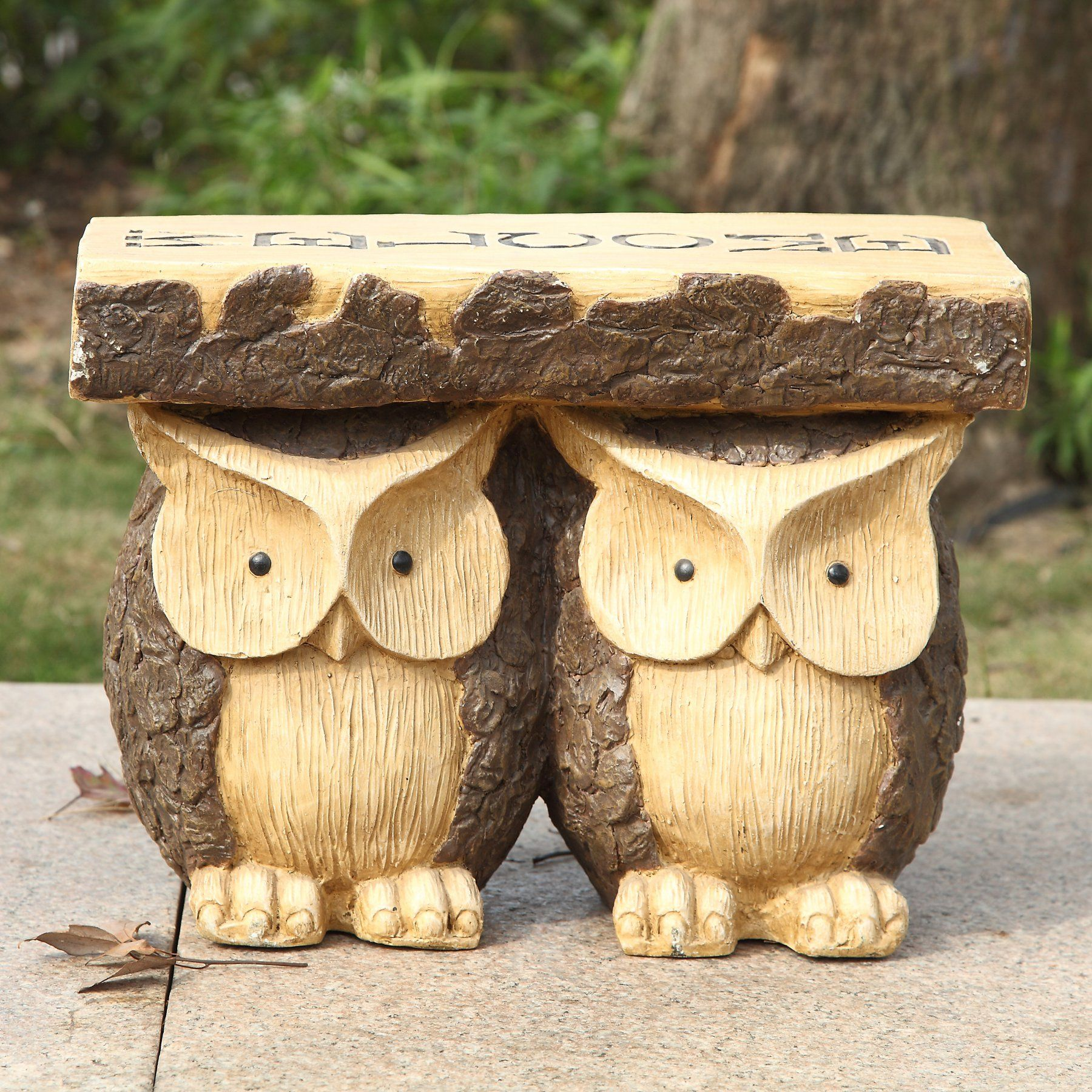 Hi Line Gift Ltd Owls Welcome Indooroutdoor Plant Stand