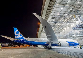 Boeing rolls out first 787-9