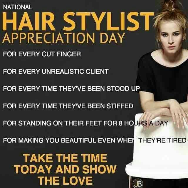 Hairstylist appreciation day | Gifts | Hair salon quotes, Hair