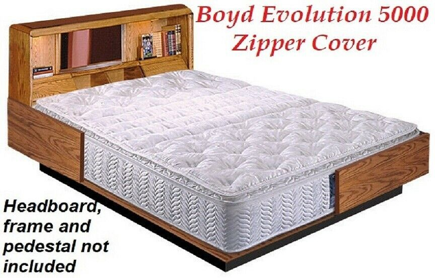 Details About Boyd Liquidation Super Single Plush Pillowtop Waterbed Mattress Zipper Cover