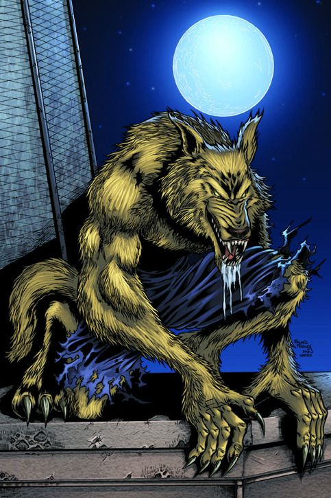 """Werewolf art print by Sean Forney.     Print is professionally printed on 11""""x17"""" 80-lb gloss cover stock.     Print will be signed by artist.     Werewolf print ©Sean Forney 2003-2013."""