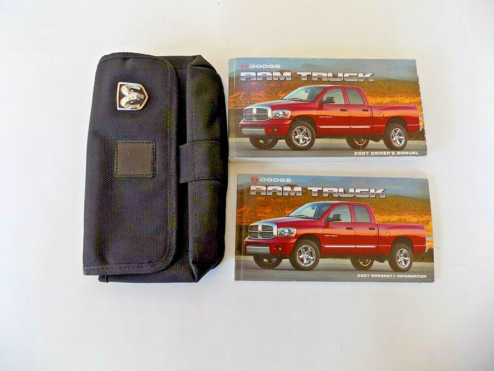 2007 Dodge Ram Truck Owners Manual Case New Original Ebay Dodge Trucks Ram Owners Manuals Dodge Ram