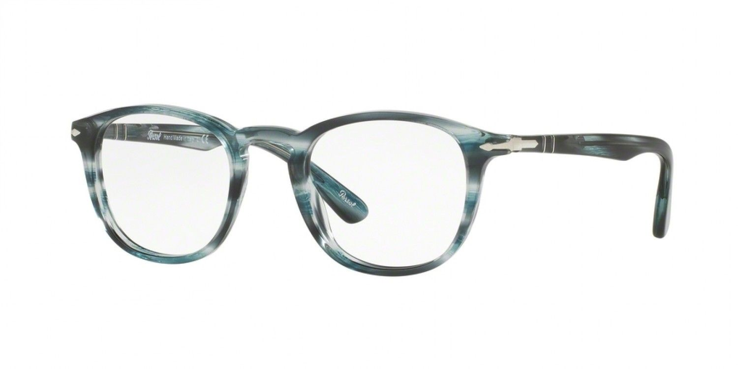 ccac7fee62 Persol PO3143V 49 Eyesize - Striped Grey - Three-Four View