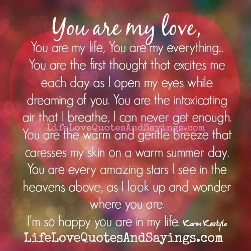You Are My Everything.. - Love Quotes And Sayings | my love ...