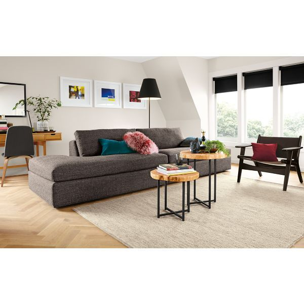 living - room & board. end tables rather than coffee table. | all