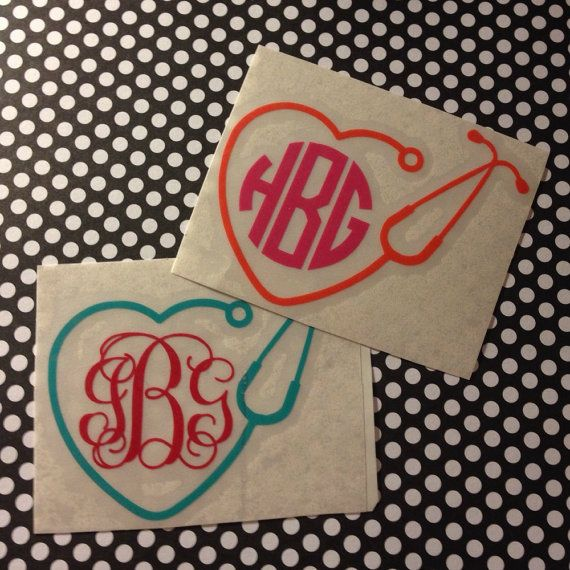 Nurse Bling Personalized Vinyl Stethoscope Decal Nurse - Custom made vinyl decals