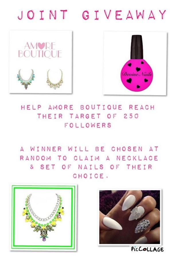 Check out our joint giveaway with @DevineNails1 Get us to 250 followers! Must RT & follow both to win! #GoodLuck http://t.co/bRizsQVA3J