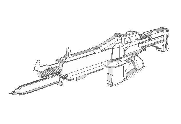 003 Pin by PaperCraft Square on Paper Craft Square Rifle