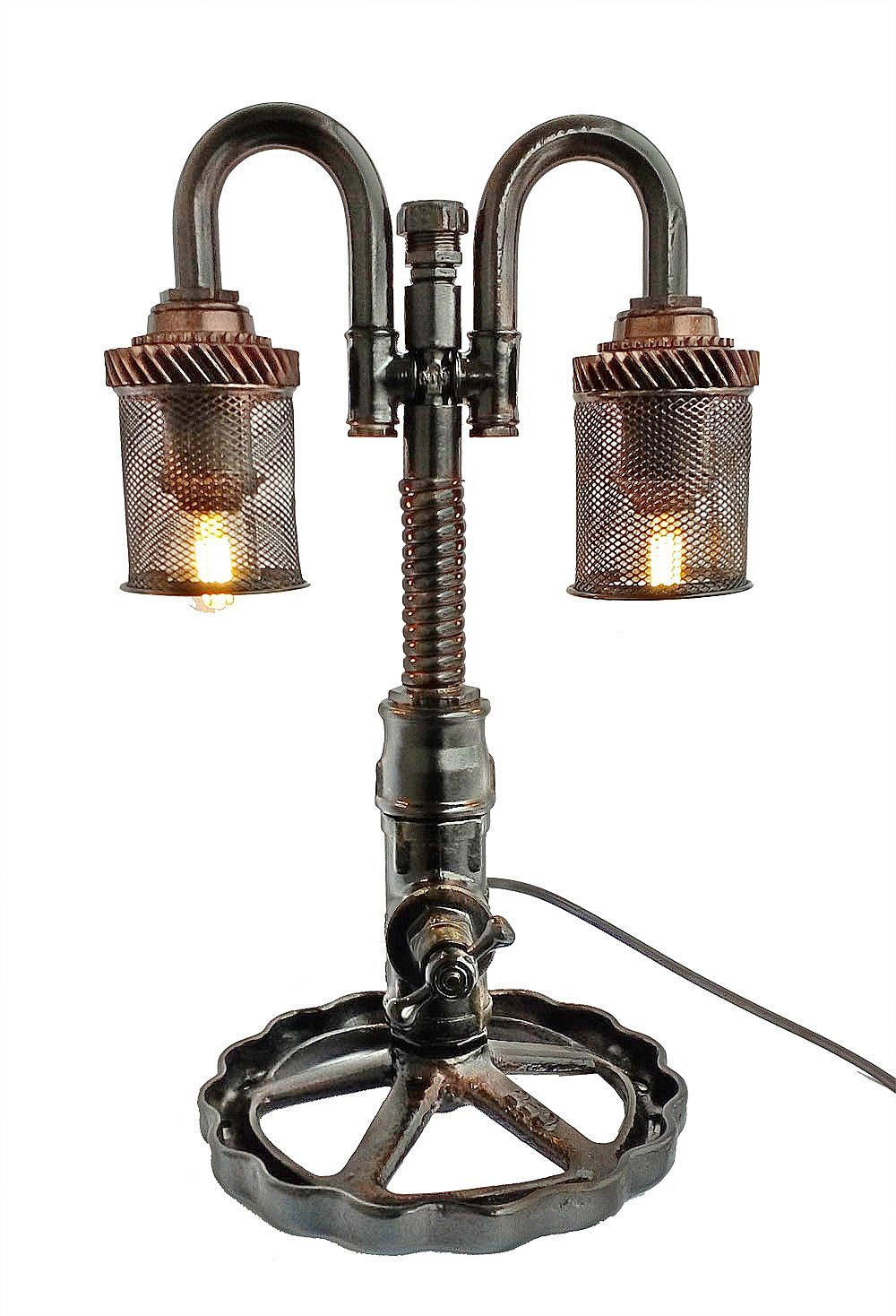 Industrial steampunk lighting, Steampunk industrial lamp