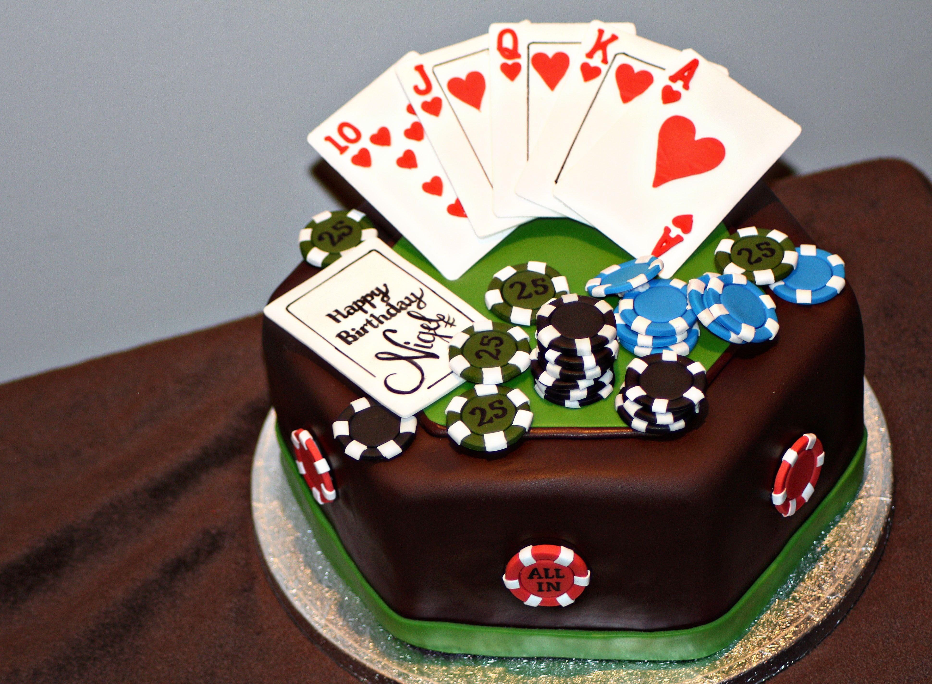 Super Poker Birthday Cake Poker Cake Funny Birthday Cards Online Unhofree Goldxyz