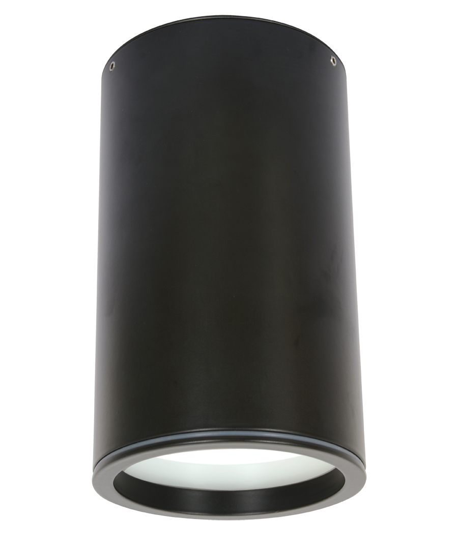 Ledlux Surface 150mm Dimmable Downlight In Black Led
