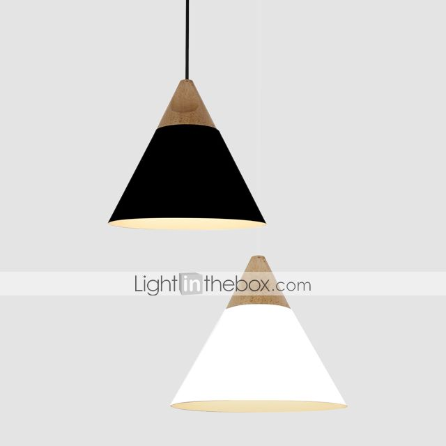 Mini artistic cone pendant lamp1 lightmordern simplicityfinish mini artistic cone pendant lamp1 lightmordern simplicityfinish blackwhiteyellowaluminum wooden droplight mozeypictures Images