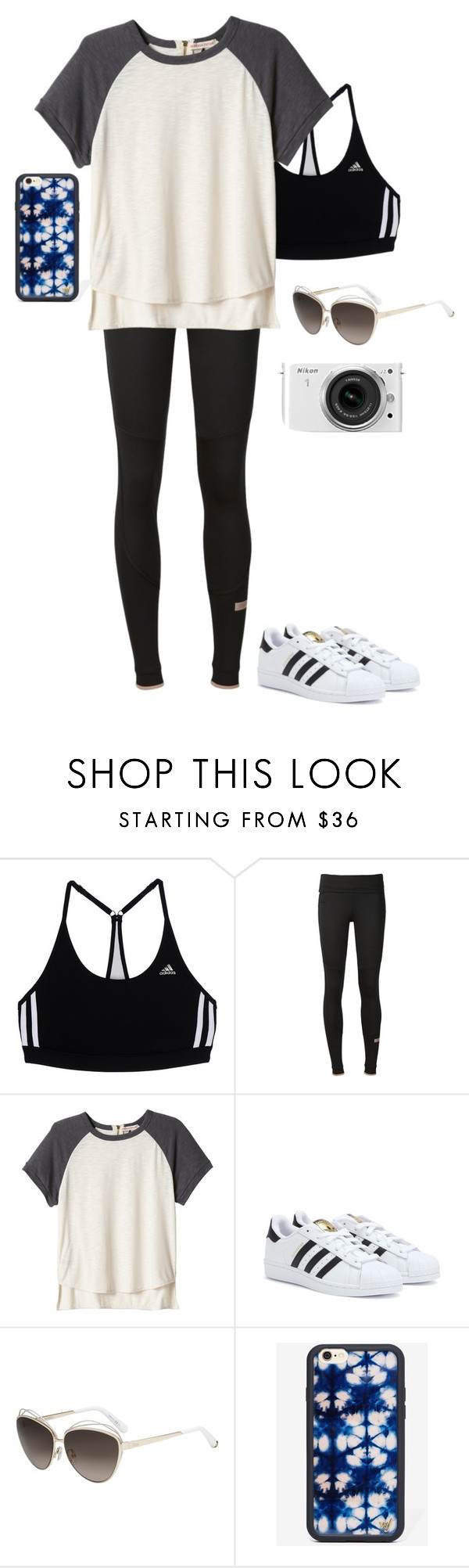 """almost there"" by indigo-atlantis on Polyvore featuring adidas, Rebecca Taylor, Christian Dior, Wildflower and Nikon"