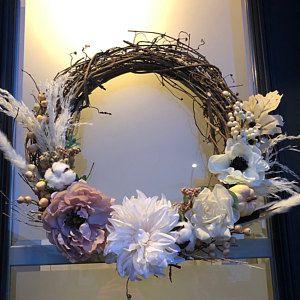 Photo of Greenery Hoop Wreath, Eucalyptus Wreath, Minimalist Wreath, Green Background, Eucalyptus Bouquet, Scandinavian Decor, Boho Wedding Venue