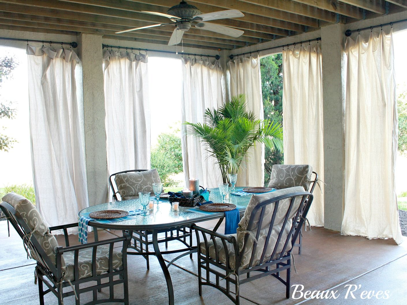 Beaux R Eves No Sew Outdoor Curtains Outdoor Curtains For Patio Outdoor Curtains Patio Curtains