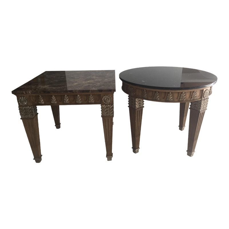 Marge Carson Transitional Side Tables Table Table Furniture