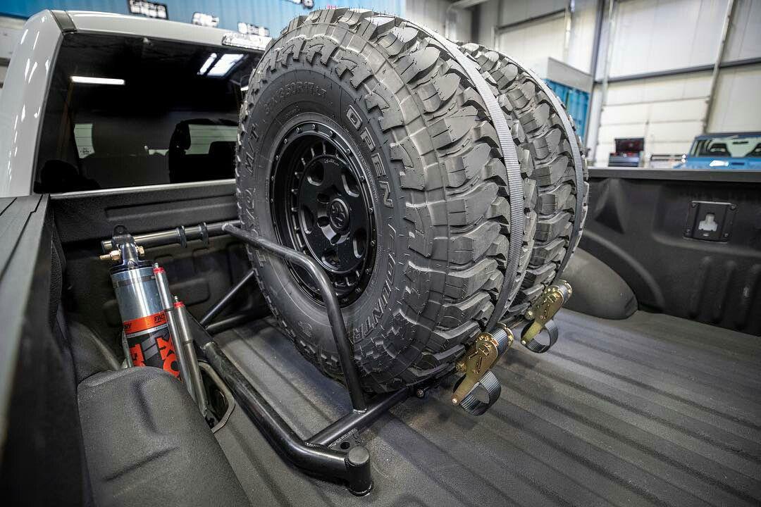 Bed Mount Dual Spare Tire Carrier For Ford F150 Raptor Prerunner In 2021 New Ford Raptor Ford Raptor Ken Blocks