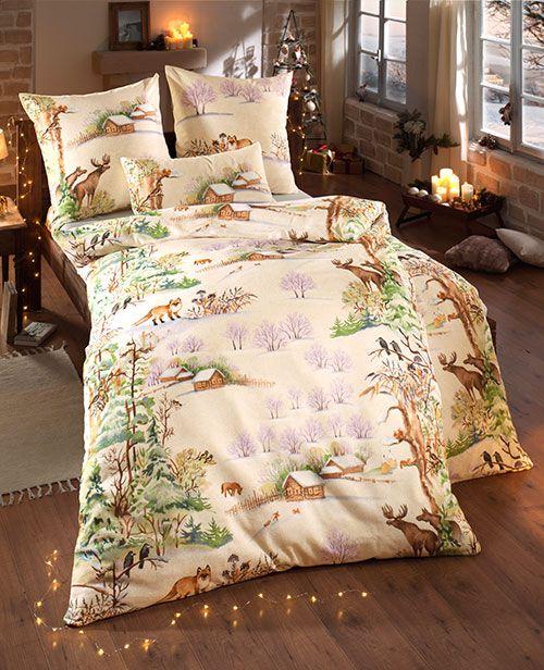 biber bettw sche 39 winterlandschaft 39 2tlg winter pinterest winter bettw sche und bett. Black Bedroom Furniture Sets. Home Design Ideas