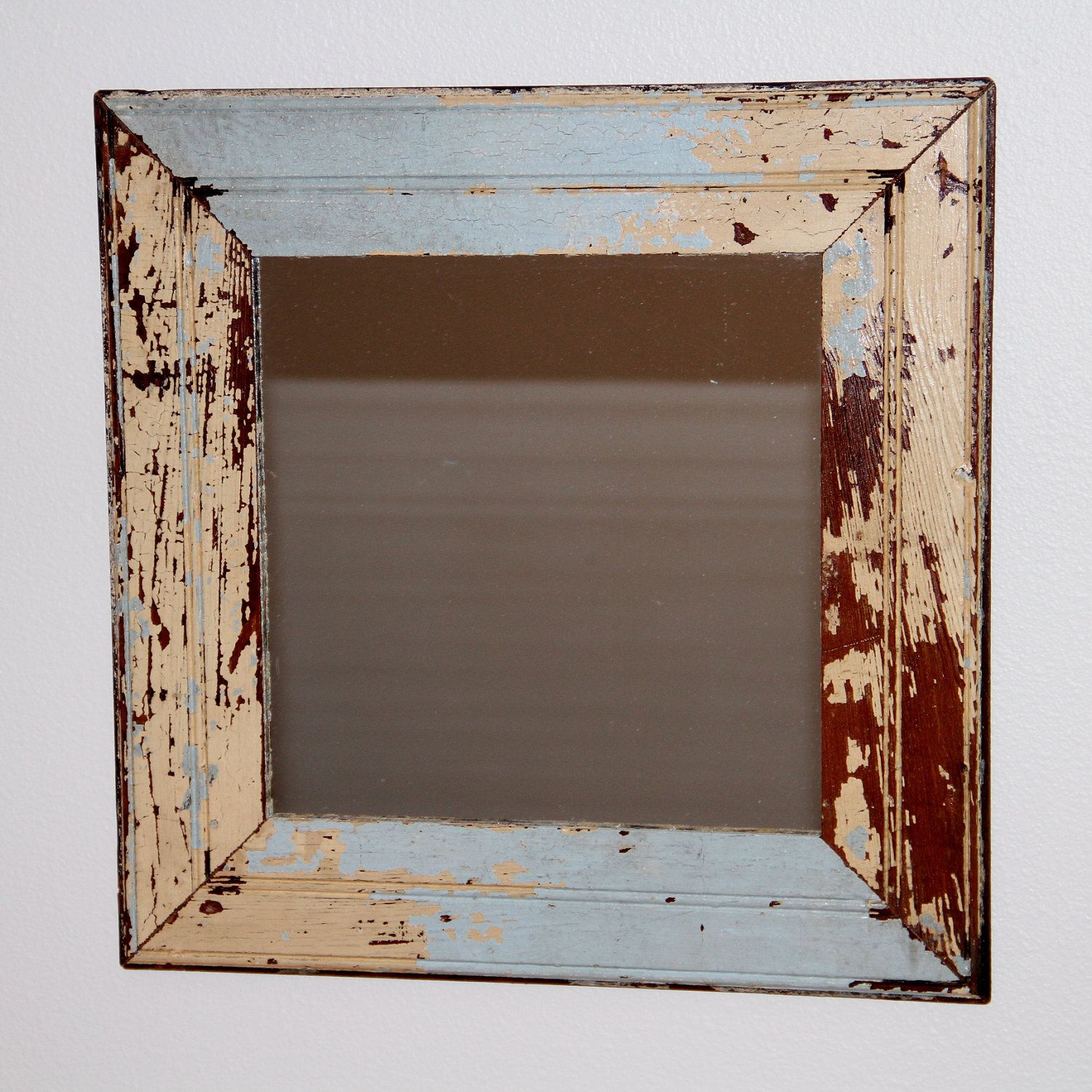 Reclaimed Wood Mirror - Salvaged New Orleans Beadboard - 18 x 18 - Made to  Order - Reclaimed Wood Mirror - Salvaged New Orleans Beadboard - 18 X 18