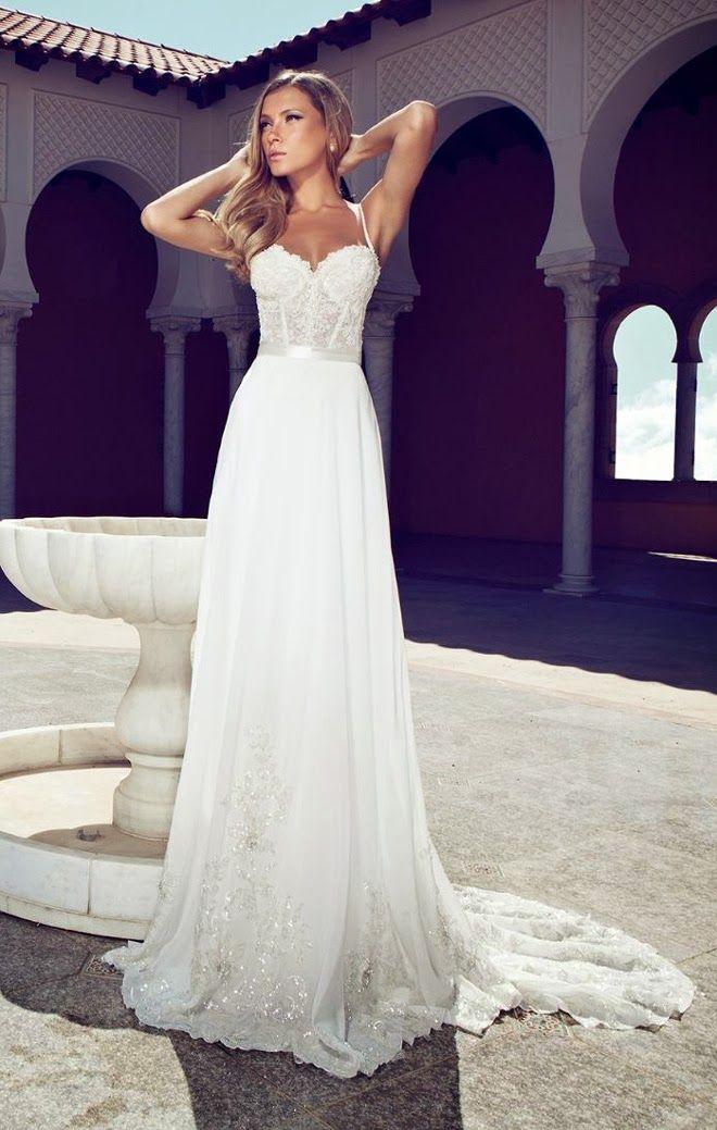 Vestidos de novia con brillos y encaje