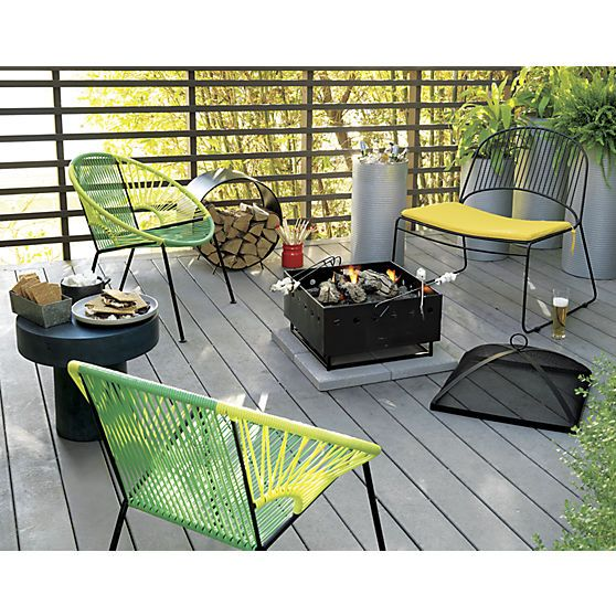 cb2 patio furniture. Humpback Matte Black Lounge Chair With Yellow Seat Cushion In Outdoor Furniture | CB2 Width: Cb2 Patio
